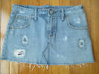 American Eagle Outfitters Size 6 Destroyed & Frayed Denim Mini Jean Skirt
