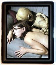 Alien Couple Weird Surrealistic Small Cigarette Case  Metal Wallet Black Roswell
