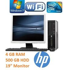 "HP FULL COMPLETE DESKTOP SET 19"" MONITOR FAST COMPUTER SYSTEM WIN7 WI-FI SALE"
