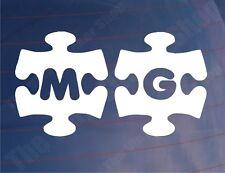 MG JIGSAW Novelty Vinyl Car/Window/Bumper Stickers/Decals - Various Colours