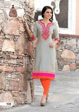 Trendy Designer Heavy Cotton Embroidered Kurti, Kurta, Tunic in XL Size