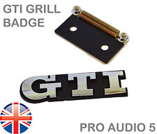Chrome GTI Grill Badge -VW Golf Polo Bora MK2 MK3 MK5 MK6 16V Car Van QUALITY UK