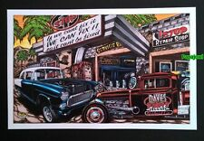"""Hot Rod Art 1955 Chevrolet 55 """"IF WE CAN'T FIX IT IT CAN'T BE FIXED""""  11"""" x 17"""""""