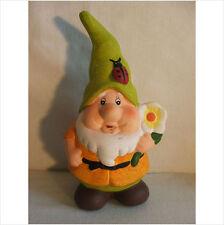 Gnome avec fleur/coccinelle pointu chapeau. latex moule/moule/moule
