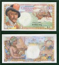 French Equatorial Africa 50 Francs 1947. UNC - Reproductions