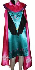 Eiskönigin Elsa Kostüm Kleid Frozen Gr.128 Blaugrün Pink Mantel Krönung Karneval