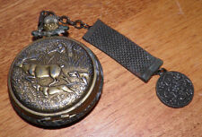 Hunter Case Windup Pocket Watch FOB Needs Cleaned & Polished Working Buy It Now