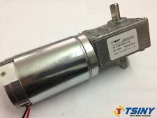 12Vdc 12RPM Worm Gear Motor Variable Speed Gearmotor Dual Shaft Output 44mm