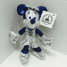 "Disneyland 60th Diamond Anniversary Minnie Mouse Sequin Bling 9"" Plush"