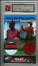 MICHAEL JORDAN TIGER WOODS GAME USED WORN JERSEY DUAL FABRIC PATCH SWATCH 1/1