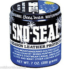 Sno-Seal Can 8 Ounce - Beeswax Leather/Weather Protection For Every Climate