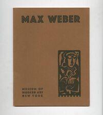1930 MoMA Rare MAX WEBER RETROSPECTIVE EXHIBITION 1907 – 1930 Exhibition Catalog