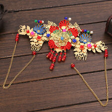 1PC Chinese Classical Women Hairpin Hair Comb  Alloy Cloth Bride Accessories