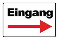 wetterfestes Schild: Eingang mit Pfeil nach rechts - RESTPOSTEN!!!