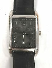 Gents EMPORIO ARMANI AR-0272 Stainless Steel Back Leather Strap Watch - C12