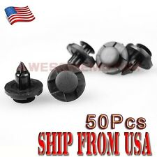 US 50Pcs 8mm Car Rivet Bumper Door Fastener Push Clip Set For Nissan Altima AM