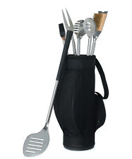 5 Piece BBQ Tool Set in Golf Bag Grilling Grill Wedding Father's Day Gift Party