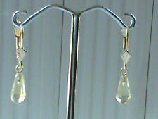 14kt Gold lever back Earrings Super Clean Faceted Citrine Drops! Solid 14kt Gold