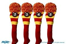 Hybrid golf club headcover New 4 pc classic RED YELLOW 2 3 4 5 KNIT Head cover