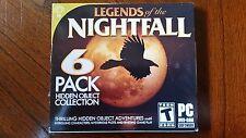 LEGENDS OF THE NIGHTFALL 6 Pack 2014 Hidden Object PC Games Windows Vista 7 8
