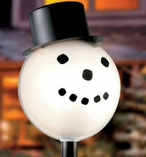 Snowman Lamplighter Outdoor Electric Lamp Post Cover - NEW