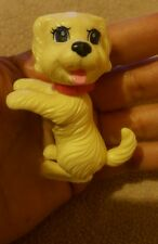 HARD PLASTIC DOG figurine toy for play • Pre-owned • pink collar • Nice Cond
