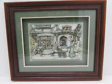 Diorama Of A Toy Shop By Anton Pieck In Beechwood Frame