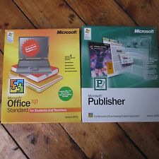 MICROSOFT Office XP standard Studenti + Editore VINTAGE ORIGINALE Big Box CD ROM