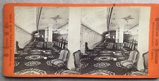 "1872 STEREOVIEW H. ROPES & CO. SALON SIDEWHEELER SHIP ""BRISTOL"" N.Y. TO R.I."