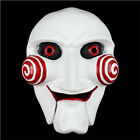 Scary Saw Movie Jigsaw Puppet Halloween Custome Props Resin Mask Collectbale