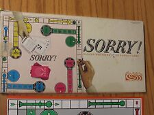 Sorry! Pursuit Board Game Parker Brothers Vintage 1964 Missing 1 Game piece
