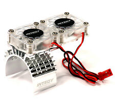 Integy Motor Heatsink + Twin Cooling Fan for Traxxas 1/10 Slash 4X4 T8534SILVER