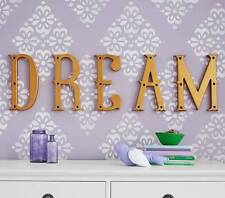 "NIB Pottery Barn Kids ""Dream"" Decorator Letter Set Wall Letters Decor"