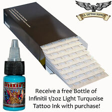 9 Curved Magnum Tattoo Needles Box of 50 - Free Infinitii 1/2oz Lt Turquoise Ink