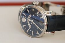 Arnold and Son True Moon Men's Watch SS large 46mm case, diamonds dial! BNIB