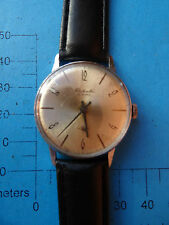 Vintage  OLD SOVIET RUSSIAN HAND MENS WATCH RAKETA 16 JEWELS  23