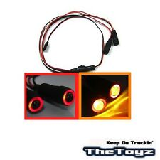 1/10 1/16 1/18 RC Car Angel Halo Eyes & LED Headlight Lights TOYZ 701 Red Orange