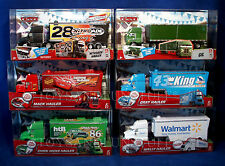 6 NEW Pixar Cars HAULERS Lot NITROADE Chick Hicks MACK Walmart GIL Gray DINOCO