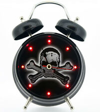 Skull & Crossbones Alarm Clock Black