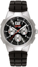 Caterpillar R114921132 Mens CAT Racing Black Rubber multi Analog date/day Watch
