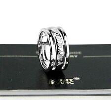 """MONTBLANC STERLING SILVER """"THREE RINGS"""" SKELETON RING SIZE 12 NEW BOX GERMANY"""
