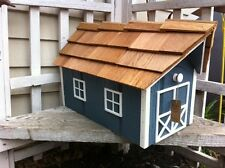 Amish Crafted Light Blue Barn Style Mailbox - Lancaster County PA