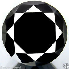3.95ct HUGE RARE CERTIFIABLE 100% NATURAL JET BLACK DIAMOND EARTH MINED DIAMOND