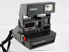 Vintage POLAROID 600 Business Edition INSTANT Camera W/STRAP AND CASE TESTED