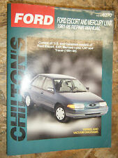 1981-1995 FORD ESCORT EXP MERCURY LYNX LN7 CHILTON REPAIR MANUAL SERVICE SHOP