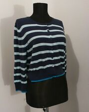 Cardigan Women's Old Navy Button Down Sweater Cardigan Blue Striped Size L