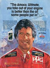 1987 Amoco Ultimate Mario Andertti You Just Cant Buy A Better Motor Oil Ad