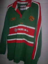 Leicester Tigers 2001-03 Home Rugby Union Shirt short sleeve adult med (31586)