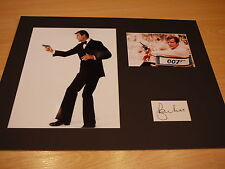 Signed & Mounted Roger Moore James Bond 007 Card & photo display - C.O.A.