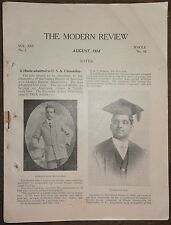 India THE MODERN REVIEW Aug 1914 Tirtha in South Africa Shaniniketan 114pgs Ӝ